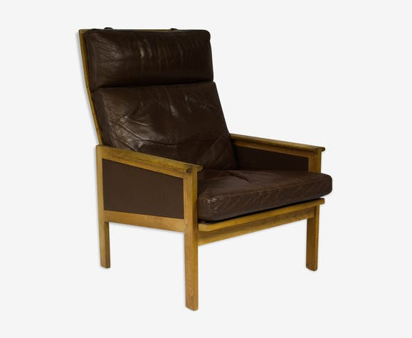 Vintage Danish Capella High Back Lounge armchair by Illum Wikkelsø for Eilersen