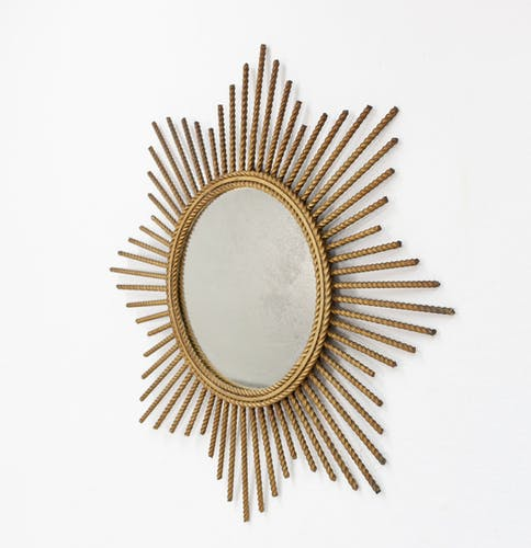 Miroir  en métal de gild 56cm