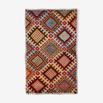 Carpet is Berber Moroccan vintage hand 84cm x 138cm 1960 s