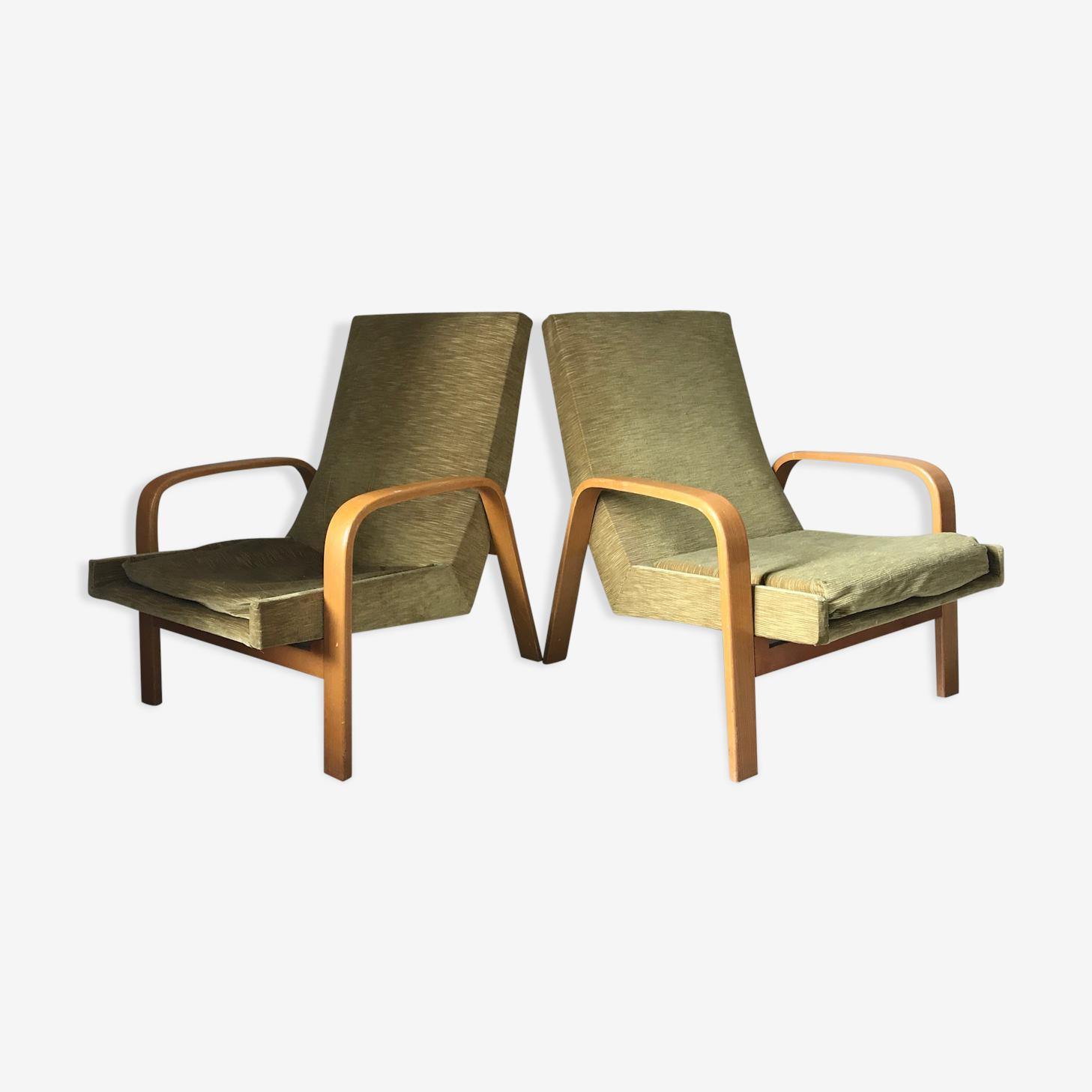 Paire de fauteuils ARP design Steiner années 60