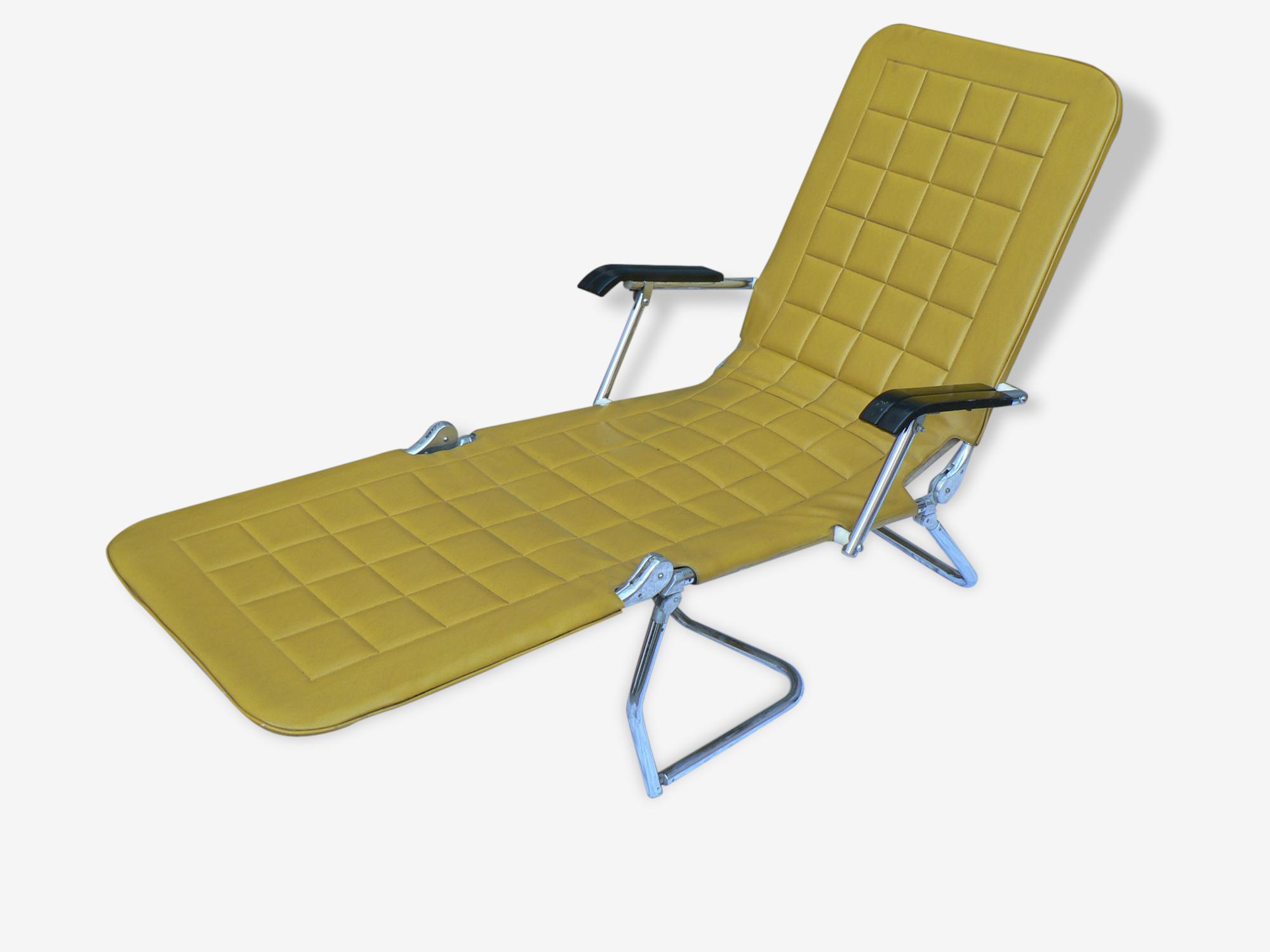 Chaise longue pliante vintage