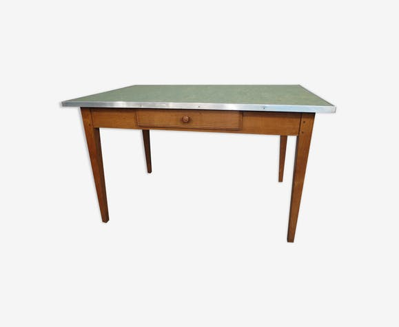 Oak and formica table, 50s