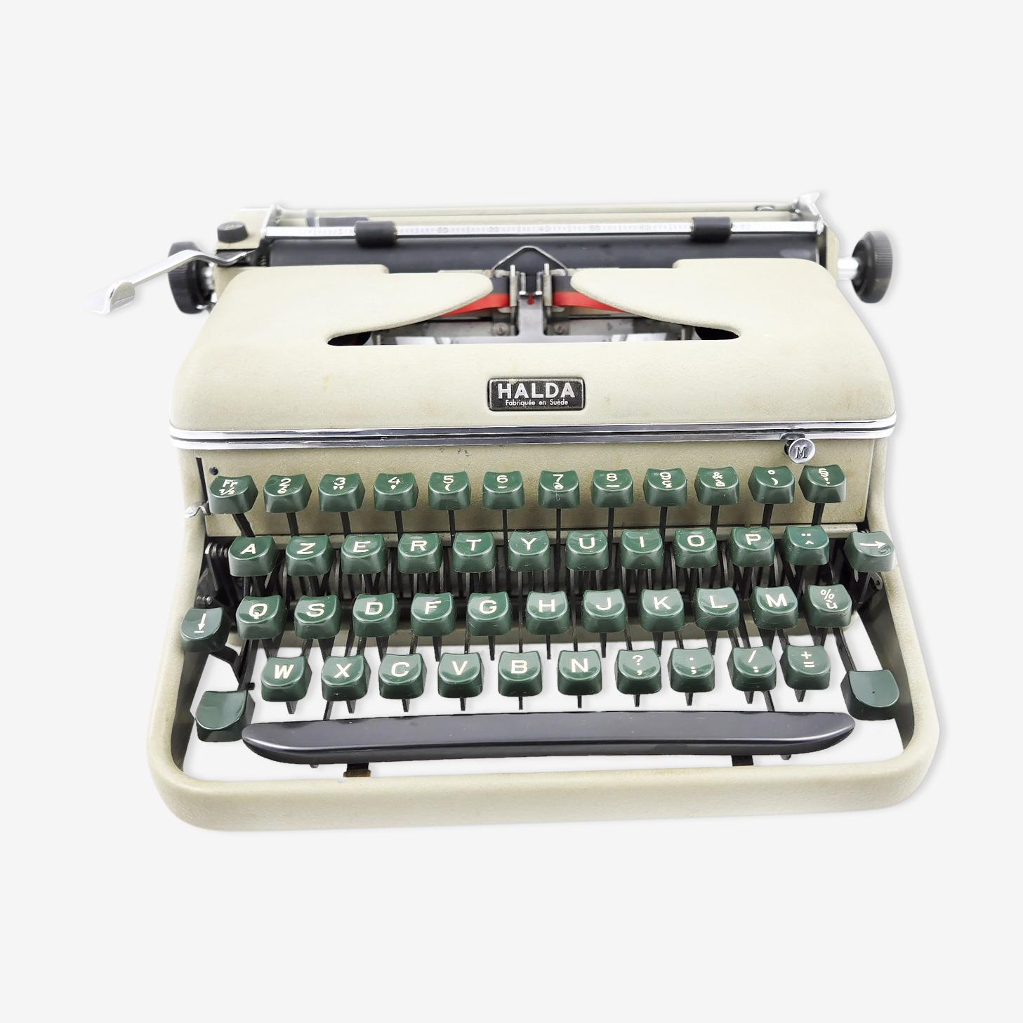 Machine à écrire Halda Kaki portable 1958 vintage