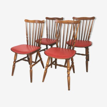 Lot de 4 chaises bistrot Baumann