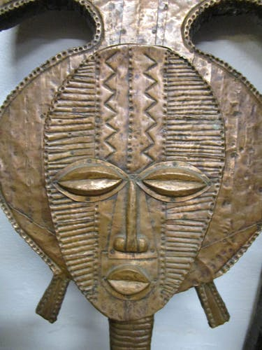 Masque tribal figure de reliquaire Gabon