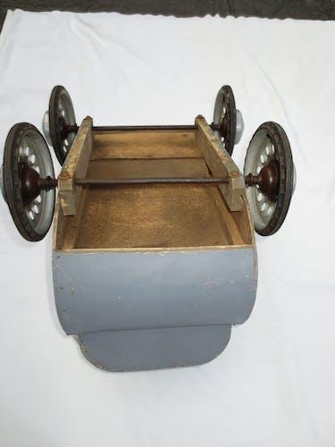 Poussette de poupée année 40 bois et aluminium