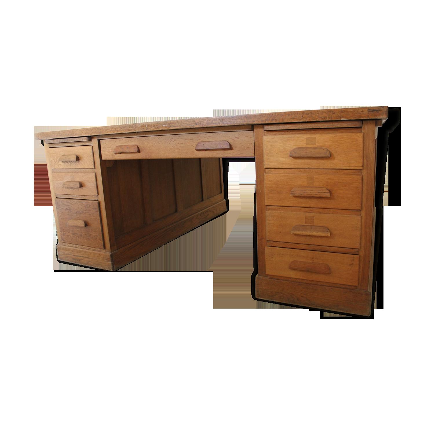 Grand bureau américain double face bois matériau bois