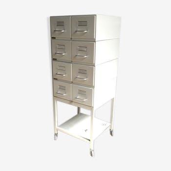 Meuble métal industriel vintage meuble à tiroirs vintage