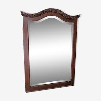 Moustache shape wooden mirror 100x69cm