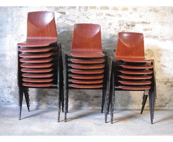Lot de 22 chaises Galvanitas S22  Pagholz
