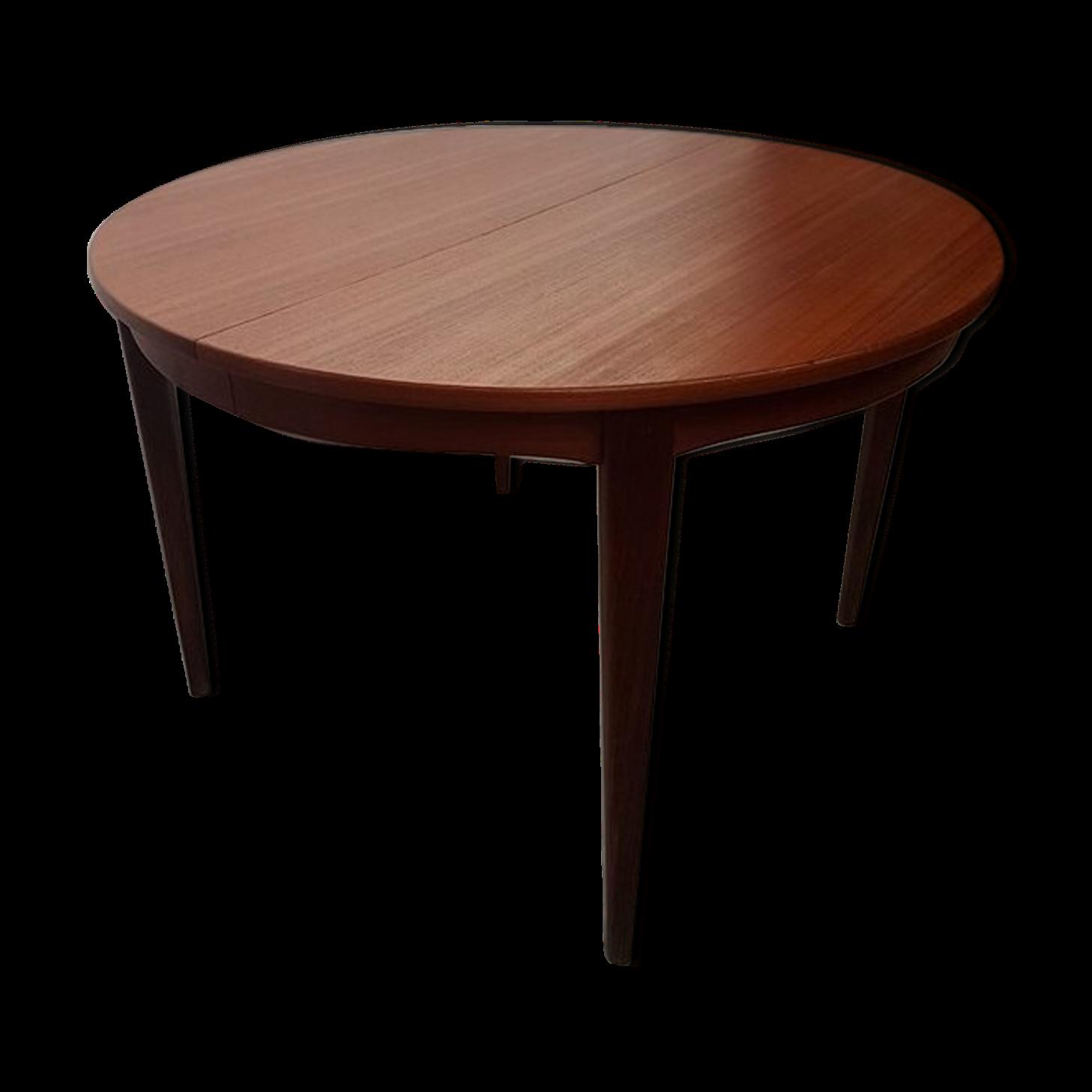 Table Extensible En Teck Style Scandinave Bois Mat 233 Riau