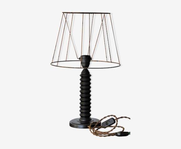 Pied de lampe en bois tourné