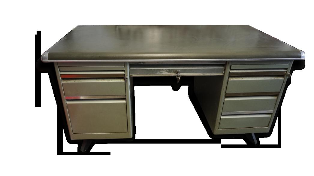 Ancien bureau en métal métal industriel
