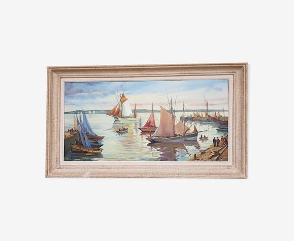 Tableau ancien huile sur toile signé H. Ethevenaux, 30