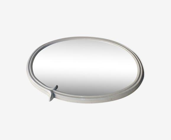 Miroir ovale 40 x 50 cm de salle de bains en fonte de fer style Art ...