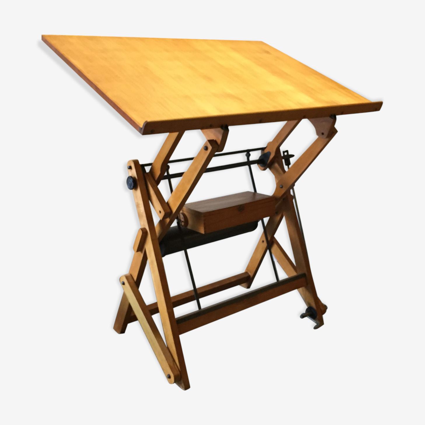 Table D Architecte En Bois table d'architecte unic studio des année 20 - bois (matériau) - bois
