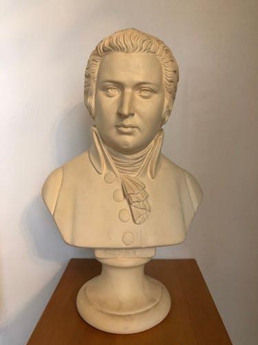 Buste de Mozart en platre