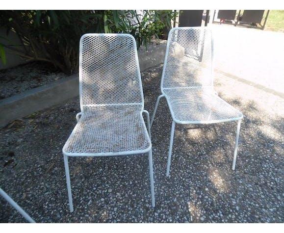 Chaises de jardin années 60