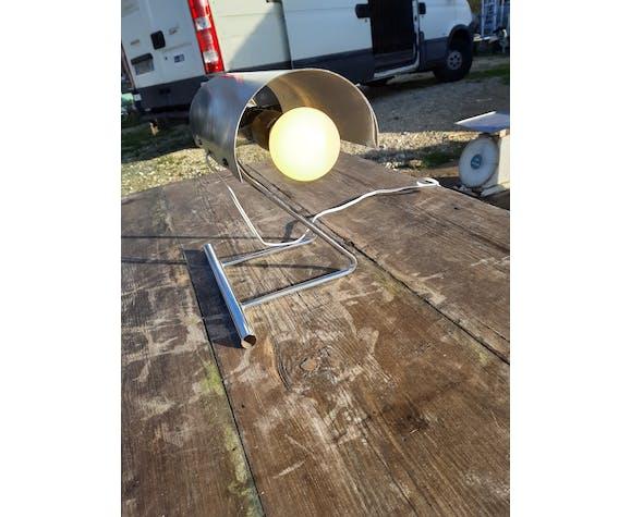 Lampe vintage chrome et aluminium