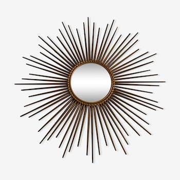 Miroir soleil Chaty Vallauris signé diamètre 70cm