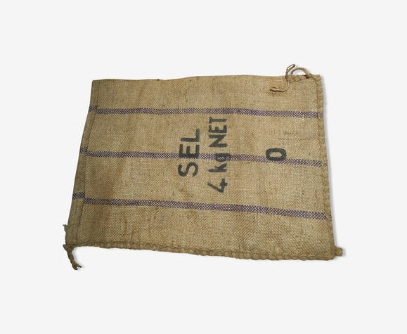 Salt old burlap bag