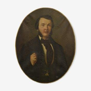 Portrait à l'huile - 1860