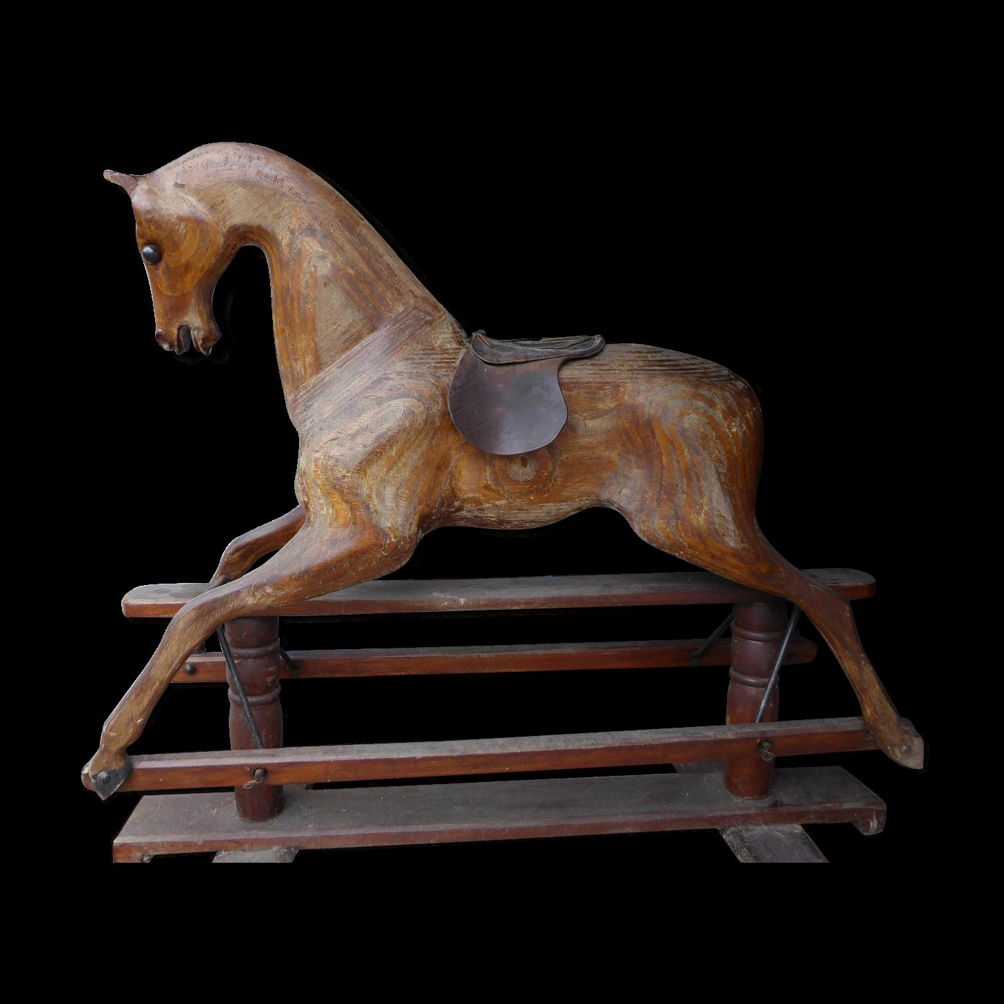 Cheval anglais à système de bascule - bois