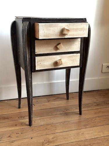 Table de nuit vintage en bois