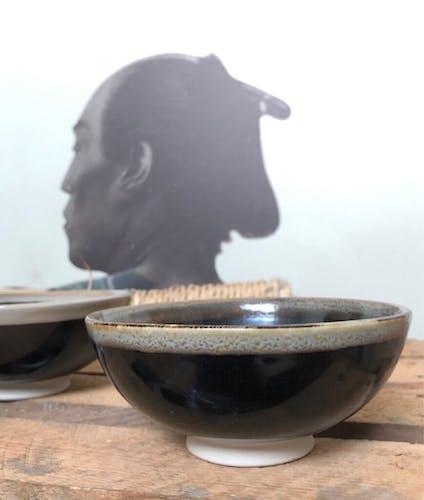 Lot de bols style céramique noir