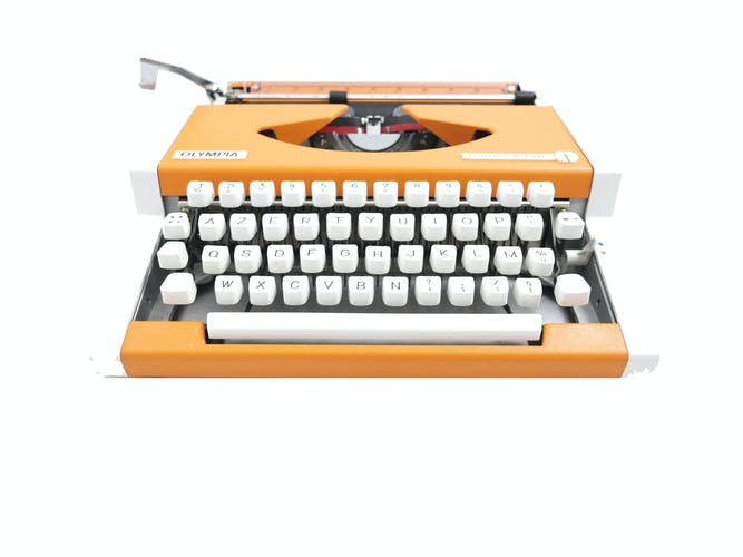 Machine to type Olympia Traveller Luxury Orange revised new ribbon