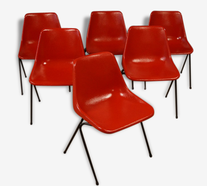 Suite de 6 chaises design Robin Day - 1960
