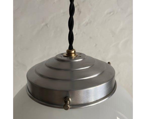 Ancienne suspension opaline vintage