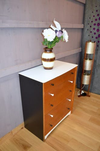 Dresser oak revamped year 1950 vintage