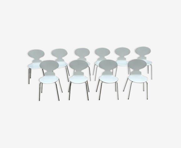 Set de 10 chaises fourmi par Arne Jacobsen 1979