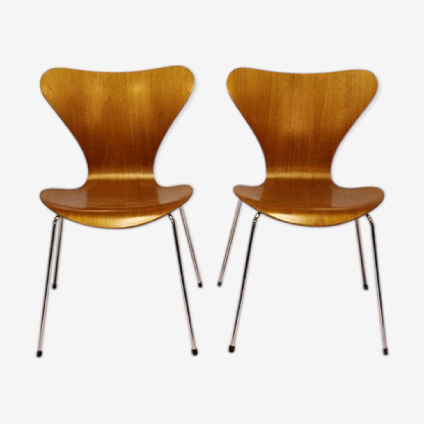 Paire de chaise par Arne Jacobsen pour Fritz Hansen