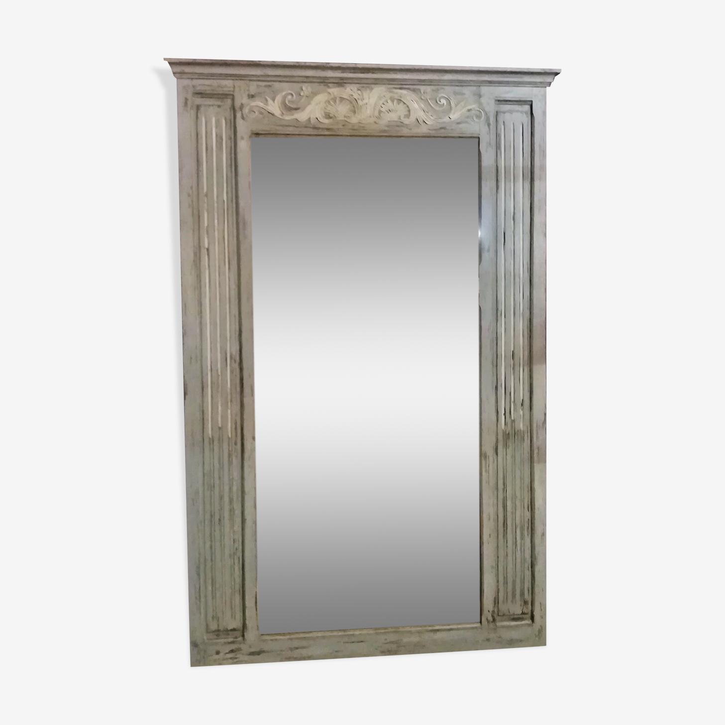 Grand miroir trumeau patiné 177x117cm