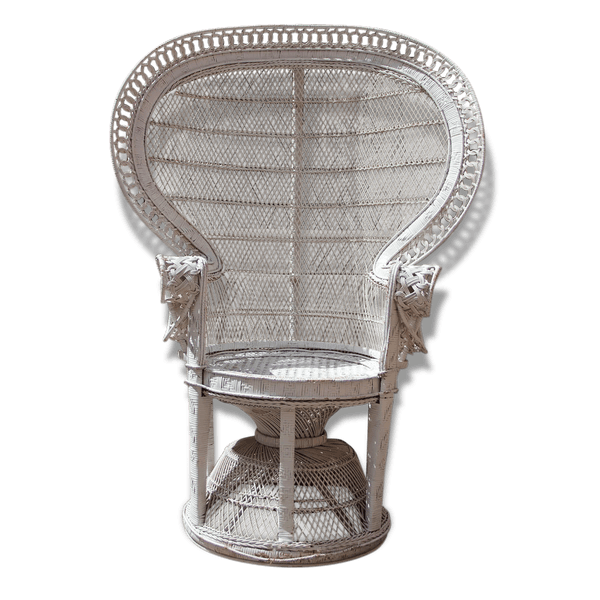 fauteuil emmanuelle blanc rotin et osier thnique 82375. Black Bedroom Furniture Sets. Home Design Ideas