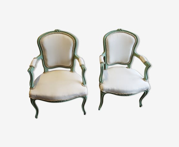 Pair of redesigned cabriolet chairs