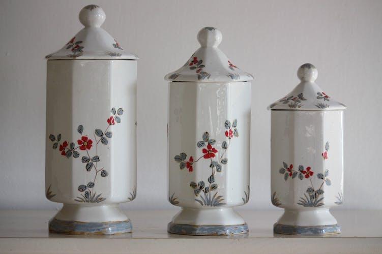 3 pots en céramique