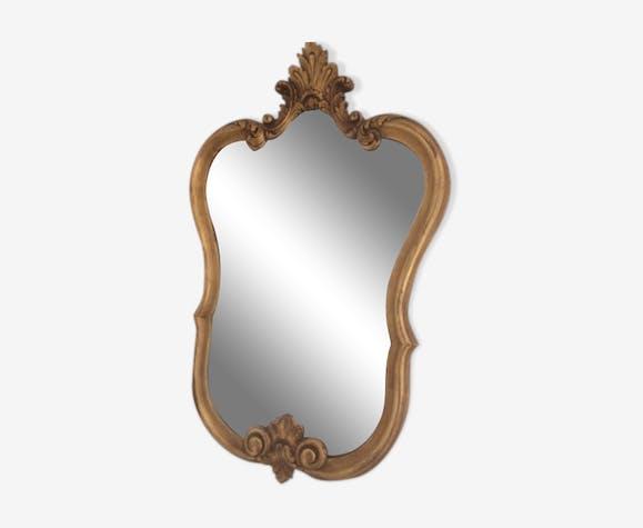 Louis XV-style mirror, gilded wood frame 46x73cm