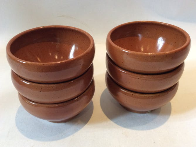 6 Digoin sandstone bowls