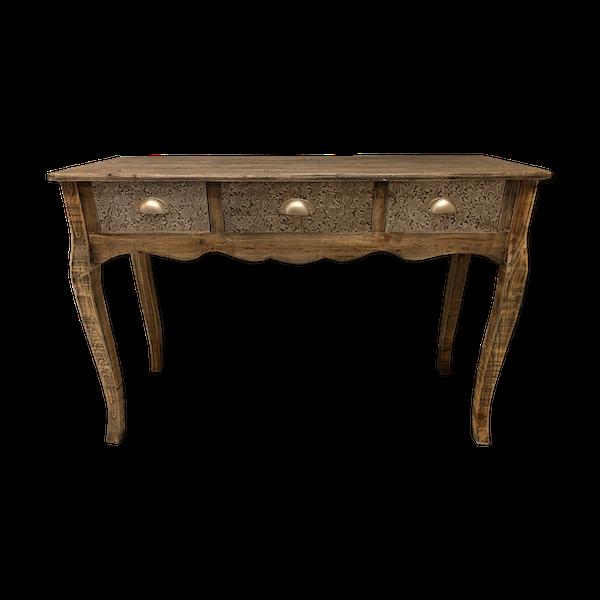 Console baroque 3 tiroirs