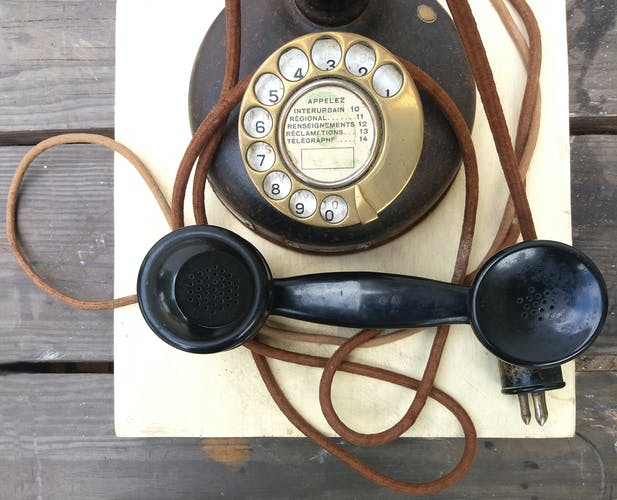 Old bakelite phone