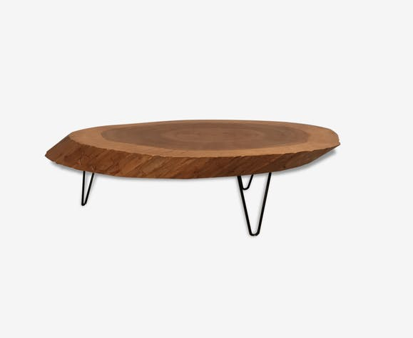Table basse tronc d 39 arbre exotique bois mat riau vintage 166869 - Table basse tronc d arbre ...