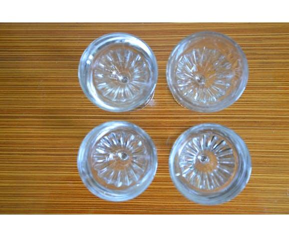 Lot de 4 verres à apéritif datant des années 30