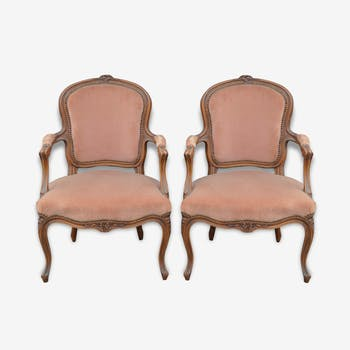 Pair of louis XV style bergeres Chair