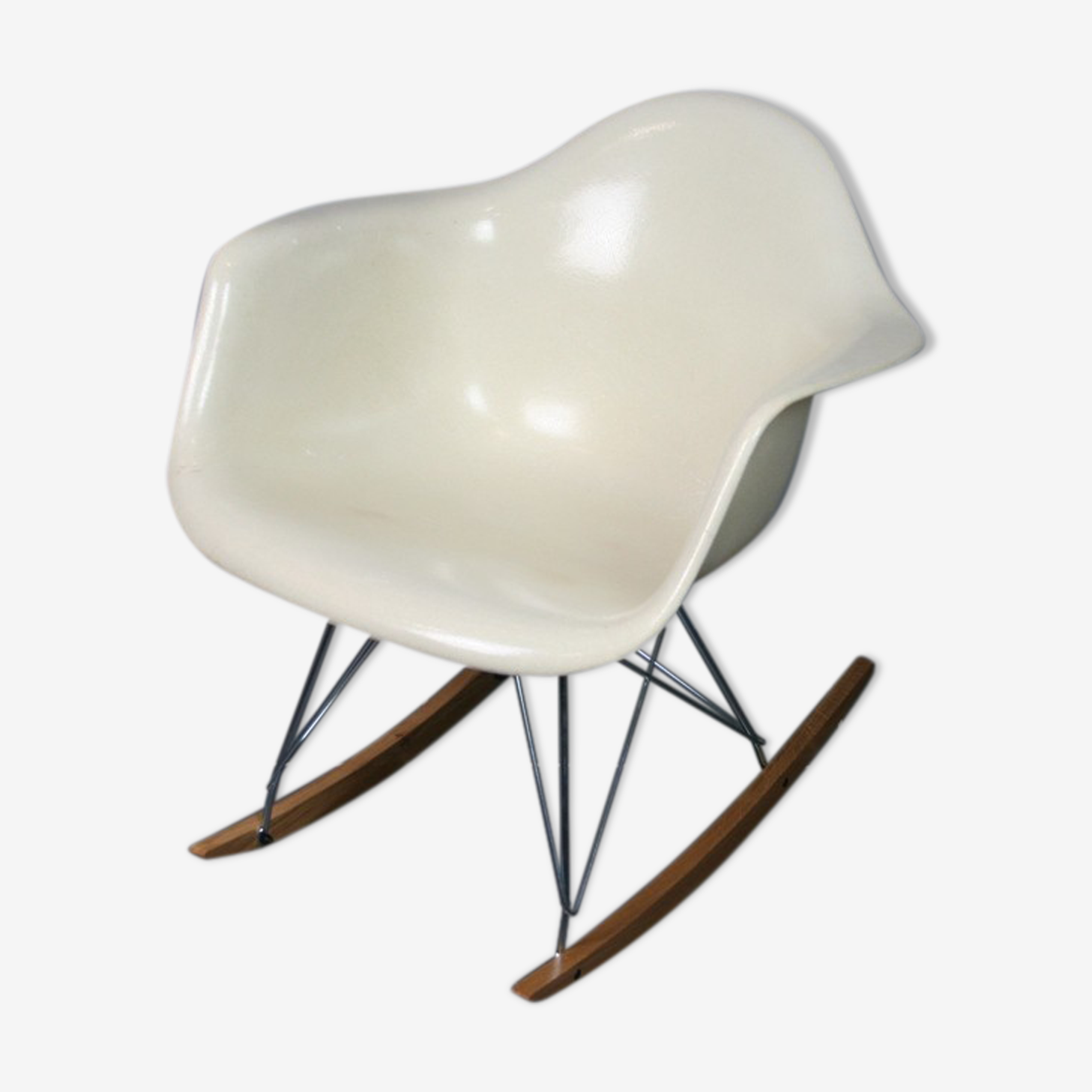 Rocking chair rar blanc parchment Eames Herman Miller
