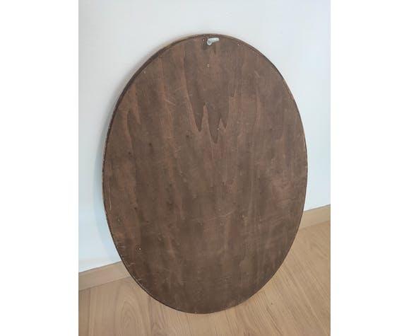 Miroir ancien bois doré 75 x 49 cm