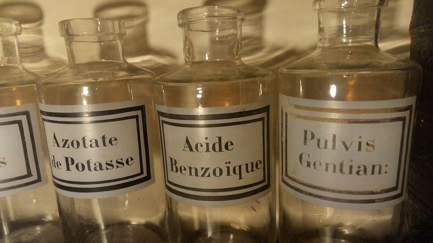 Herbal apothecary bottles pharmacist