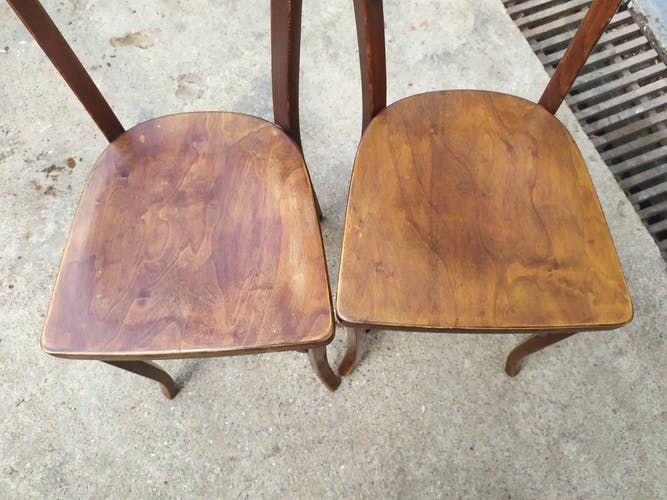 4 chaises bistrot Baumann